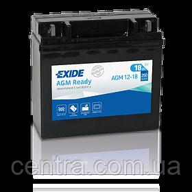 Мото аккумулятор EXIDE AGM12-18