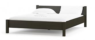 Кровать Фантазия 160х200 венге темный с ламелями Мебель Сервис