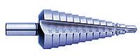 Сверло ступенчатое 4х32 15ст. хв.10 мм ( 4,6,8,10.12,14,16,18,20,22,24,26,28,30,32 ) Р6М5К5 с винтовой