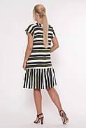 / Размер 52,54,56,58 / Женское прямое платье Яна цвет полоса оливка / больших размеров, фото 4