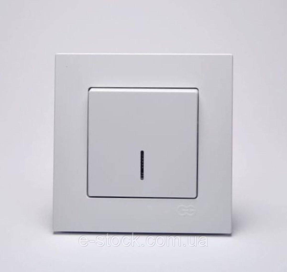 Eqona Выкл. 1-клав. с подсв. белый