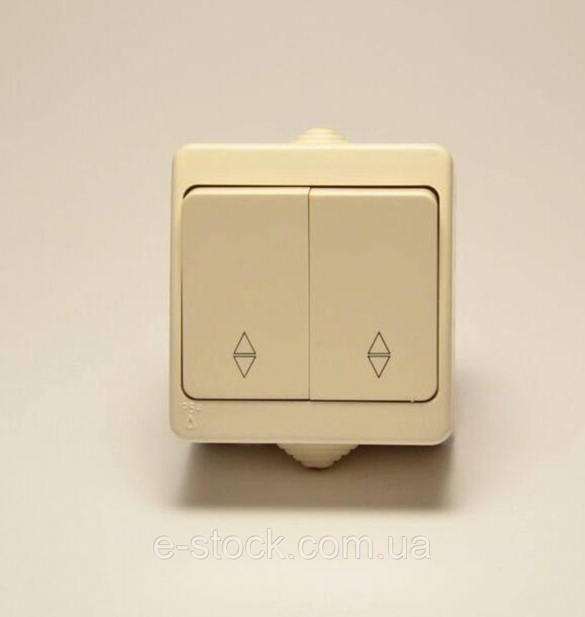 Nemli выключатель проходной 2-ой влагозащищенный кремовый