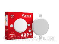 "Светильник LED ""без рамки"" круг Vestum  9W 4100K"