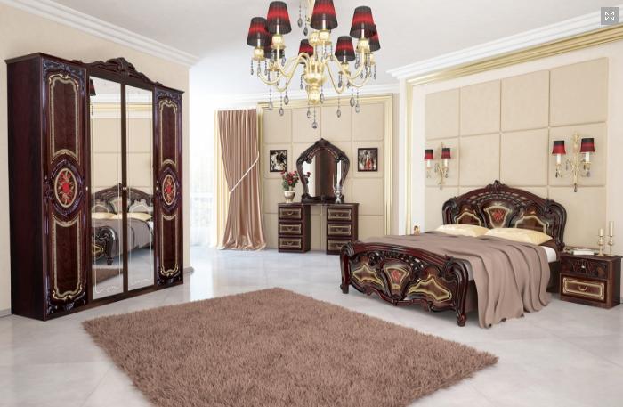 Спальня Реджина (Перо Рубино)  3Д Миромарк