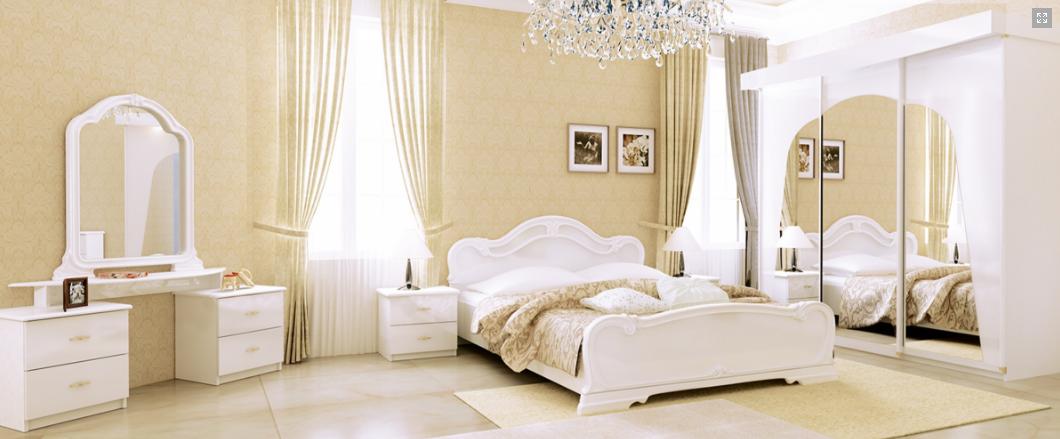 Спальня Футура 3Д (Глянец Белый) Миромарк