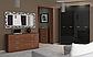"""Спальня """"Белла"""" 3Д (черная - вишня бюзум)  Миромарк, фото 3"""