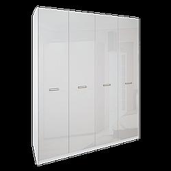 Шкаф Белла 4 двери без зеркал (белый глянец)  MiroMark