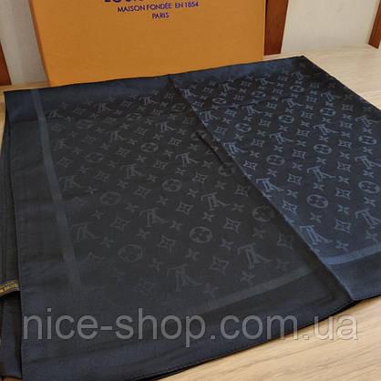 Палантин Louis Vuitton шелк черный, фото 3