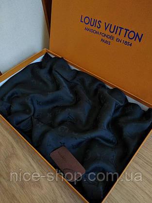Палантин Louis Vuitton шелк черный, фото 2