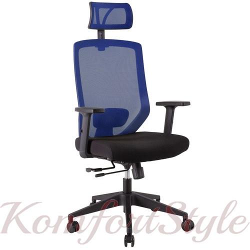Кресло офисное JOY black-blue 14504
