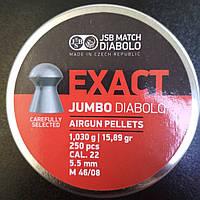 Пули пневм JSB Exact Jumbo, 5,5 мм , 1,03 г, 250 шт/уп