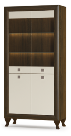 Витрина гостиная Парма 2В+2Д  Мебель-Сервис