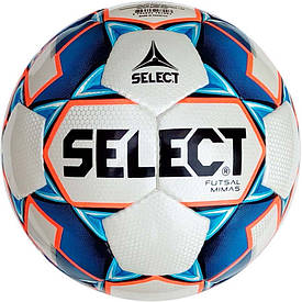 М'яч футзальний Select Futsal Mimas IMS NEW розмір 4 біло-синьо-помаранчевий