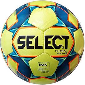 Футзальний м'яч Select Futsal Mimas IMS NEW розмір 4 жовто-синій