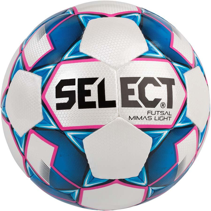 Мяч футзальный Select Futsal  Mimas Light для детей и подростков размер 4 бело-синий