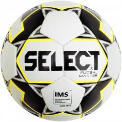 Футзальний м'яч Select Futsal Master NEW IMS біло-жовто-чорний