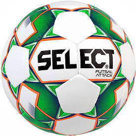 М'яч футзальний Select Futsal Attack розмір 4 біло-зелений
