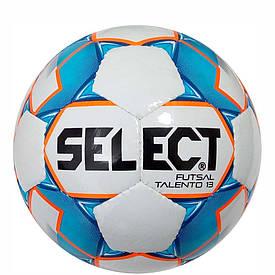 Дитячий футзальний м'яч Select Futsal Talento13 розмір 3 біло-синьо-помаранчевий