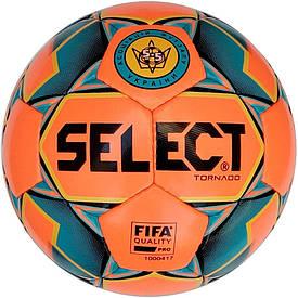 Футзальний м'яч Select Futsal Tornado FIFA NEW розмір 4 оранжево-синій