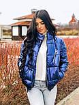 Женская плащевая короткая куртка бомбер на молнии vN6853, фото 2