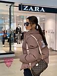 Женская короткая куртка с надписью на спине и воротником стойкой vN6856, фото 4