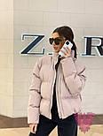 Женская короткая куртка с надписью на спине и воротником стойкой vN6856, фото 5