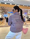 Женская короткая куртка с надписью на спине и воротником стойкой vN6856, фото 6