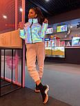 Разноцветная женская светоотражающая куртка с переливом, воротник стойка vN6858, фото 2