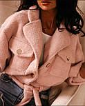 Жіночий вовняної укорочений бобмер на кнопках vN6860, фото 4