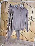 Спортивний костюм жіночий з машинної в'язки з худі і звуженими штанами vN6884, фото 2