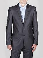 Классический мужской костюм темно серый