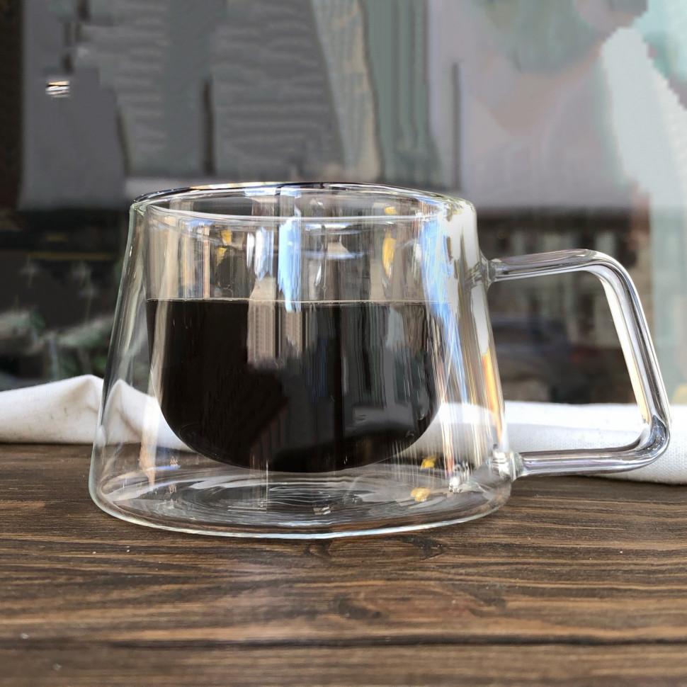 Кружки с двойной стенкой/Оригинальные стаканы с двойным дном/Стаканы double wall/Термостакан, 175 мл