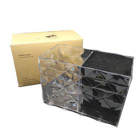 Подставка двойная для парикмахерских ножниц и инструментов SPL 21123, прозрачная