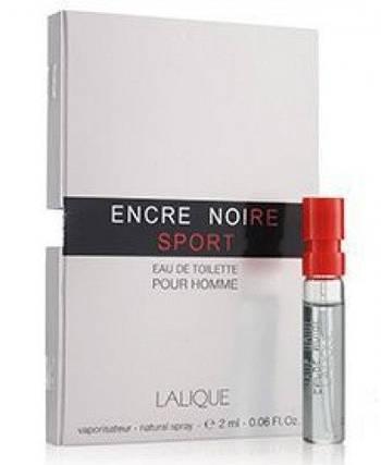 Original Lalique Encre Noire Sport 2ml Пробник Лалик Энкре Нуар Спорт