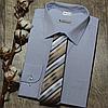 Мужская рубашка голубого цвета с рисунком, фото 6