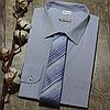 Мужская рубашка голубого цвета с рисунком, фото 5