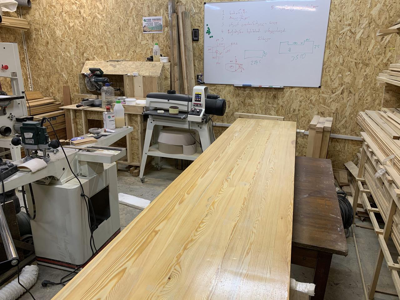 Меблевий щит 20мм клееный, столешница деревянная