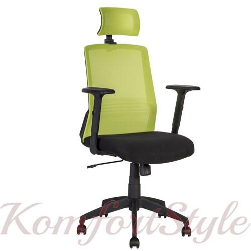 Кресло офисное BRAVO black-green 21144