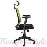 Кресло офисное BRAVO black-green 21144, фото 2