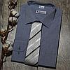 Мужская рубашка голубого цвета с рисунком, фото 3
