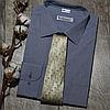 Мужская рубашка голубого цвета с рисунком, фото 4