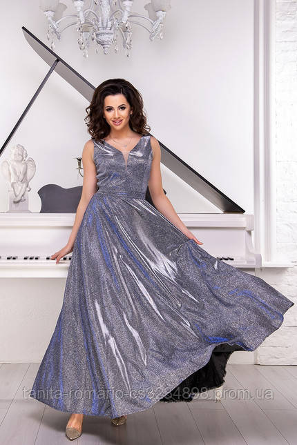Вечернее платье 8135e Фиолетовый