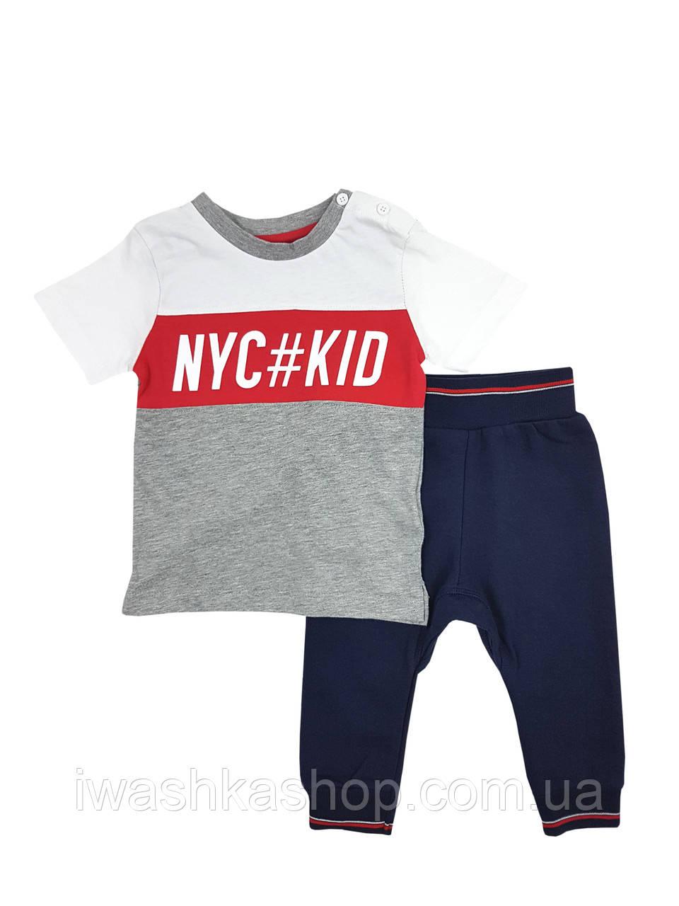 Костюм, футболка і штани на хлопчика 6 - 9 місяців, р. 74, Early Days by Primark