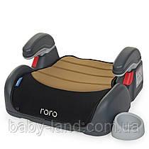 Детское автокресло бустер с подлокотниками EL CAMINO RORO ME 1044 Бежево-черный