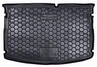Коврик в багажник для Kia Rio (2015-) (хетчбэк) (MID) (без органайзер.) полиуретан ( Avto-Gumm )