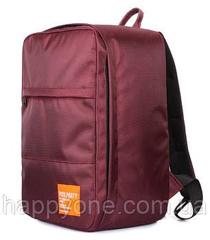 Рюкзак для ручної поклажі PoolParty HUB (марсала) - Ryanair / Wizz Air / МАУ