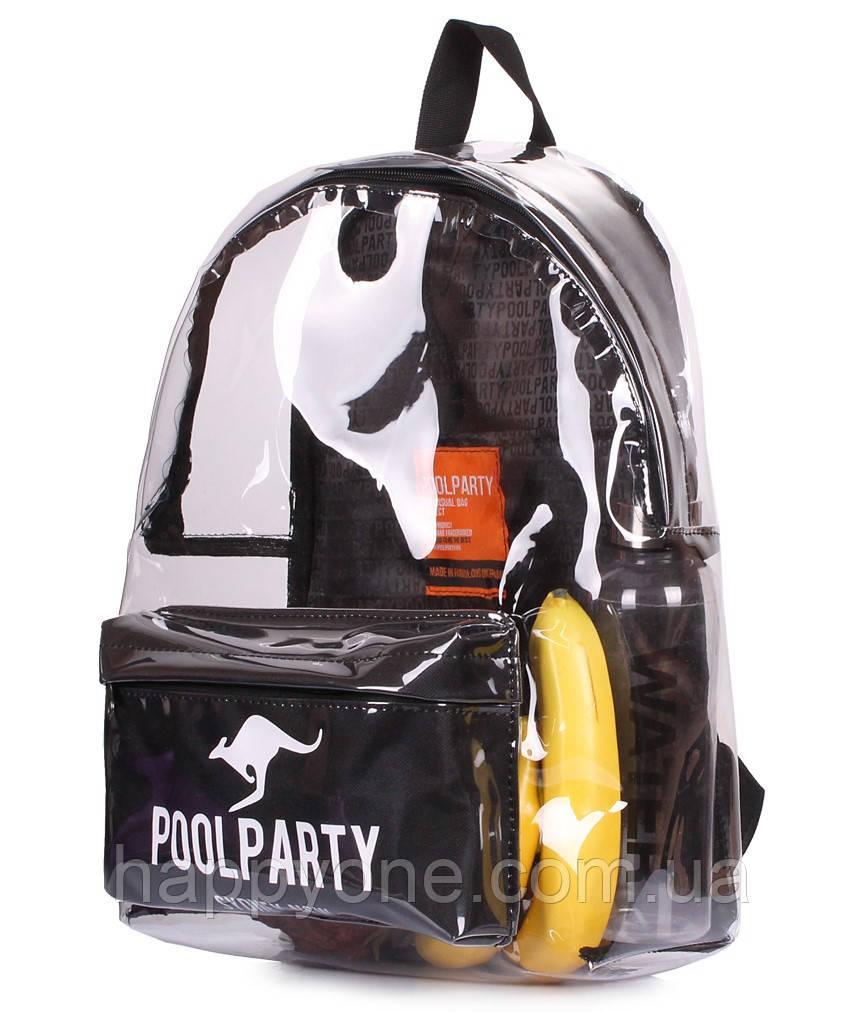 Прозрачный рюкзак Plastic (черный)