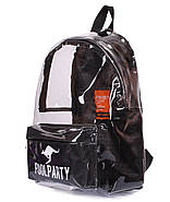 Прозрачный рюкзак Plastic (черный), фото 4