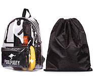 Прозрачный рюкзак Plastic (черный), фото 5