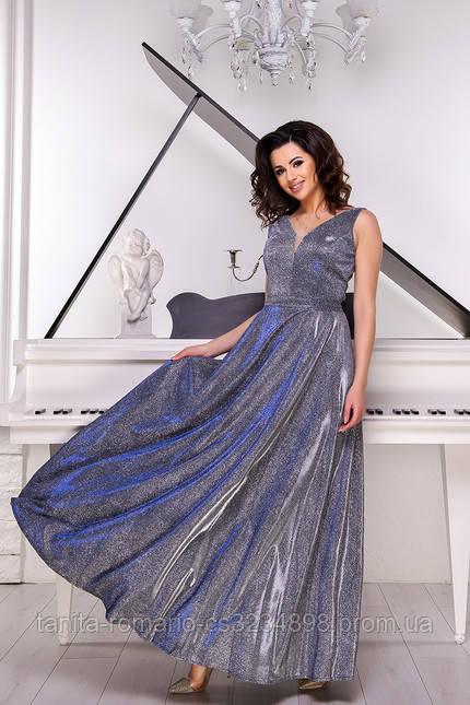 Вечернее платье 8135e Фиолетовый L